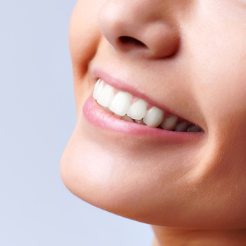 Smiling woman mouth with great teeth
